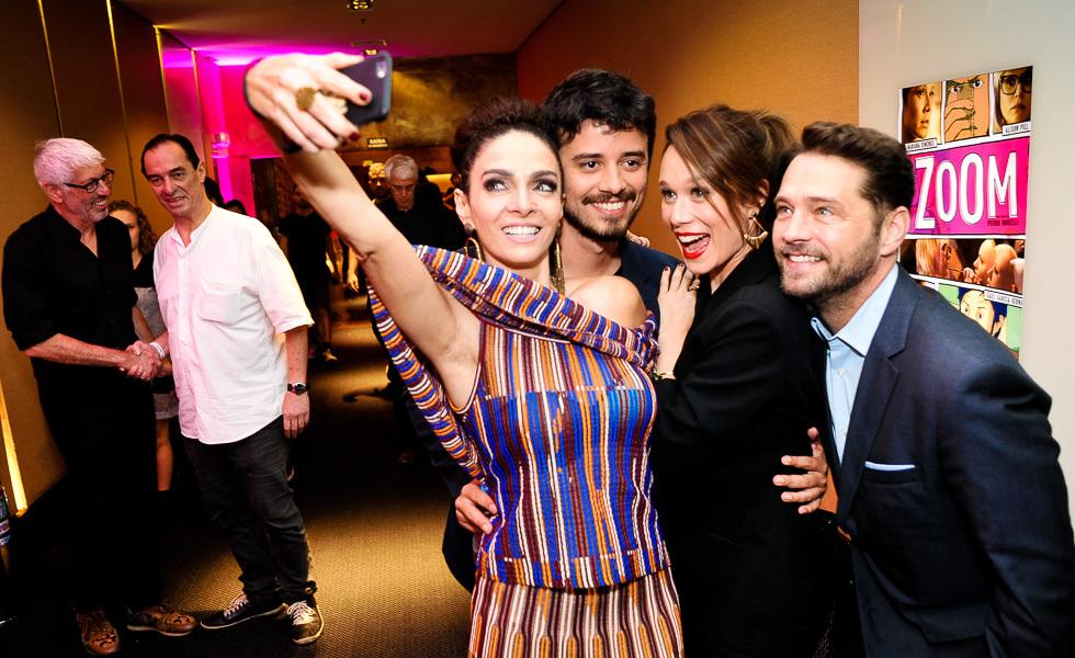 Claudia Ohana, Pedro Morelli, Mariana Ximenes e Jason Priestley