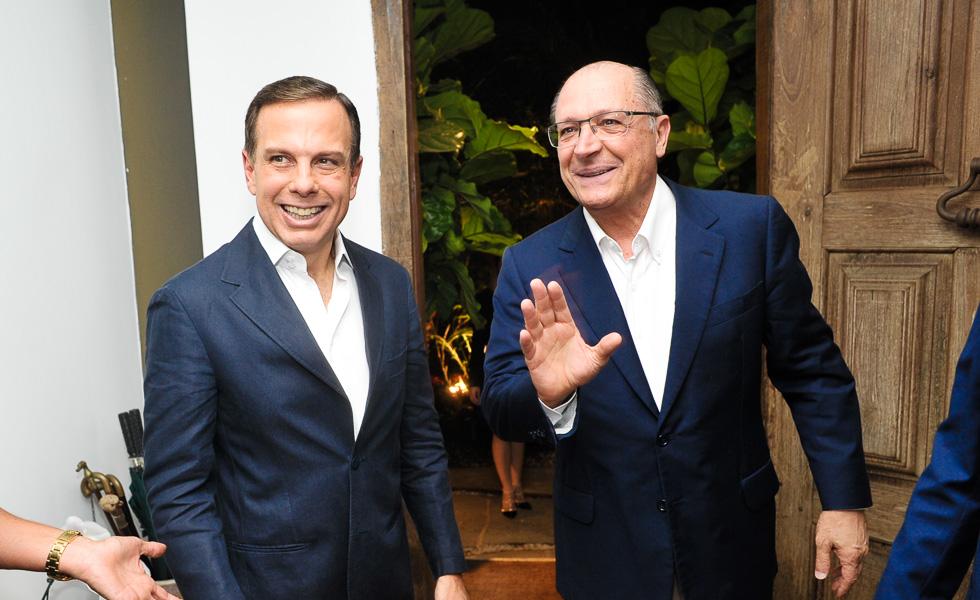 João Doria Jr. e Geraldo Alckmin