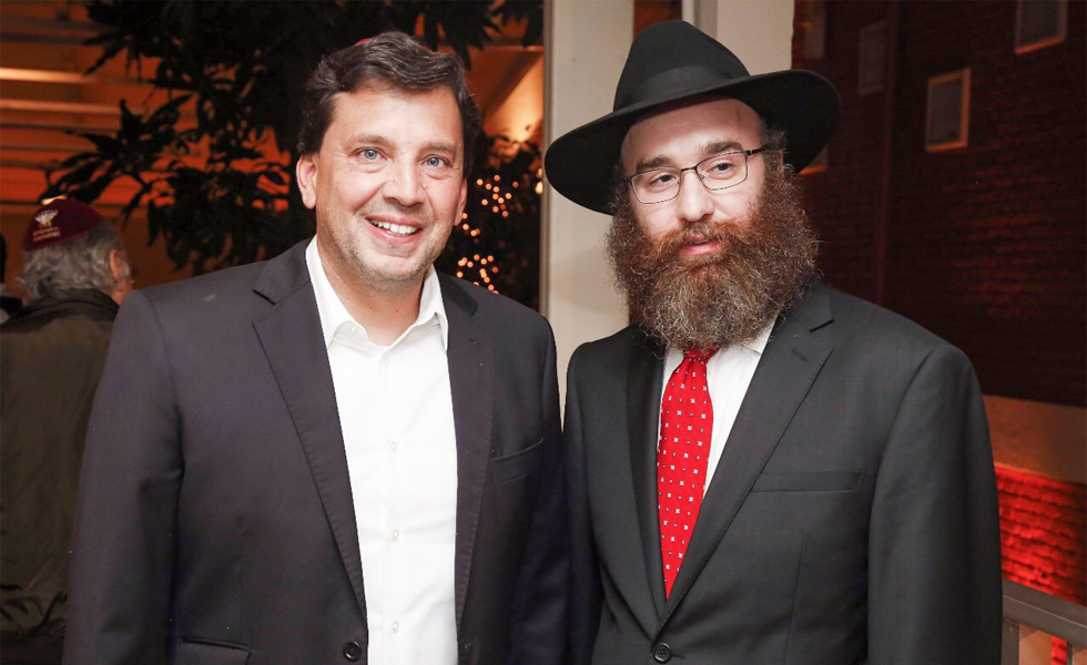 Floriano Pesaro e Rabino Dovi Goldberg (Foto: clickdafoto.com.br)
