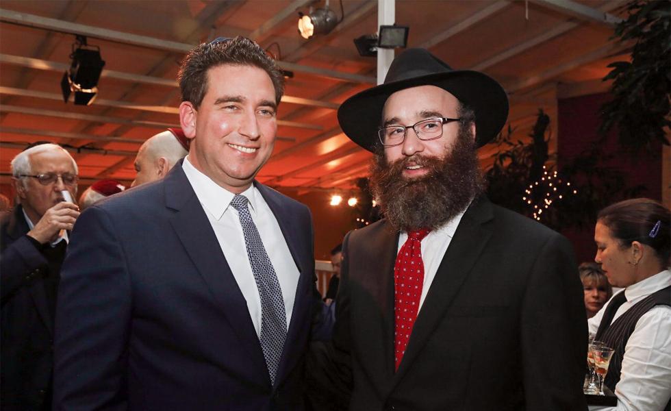 Stephen Tanenbaum e Rabino Dovi Godberg (Foto: clickdafoto.com.br)
