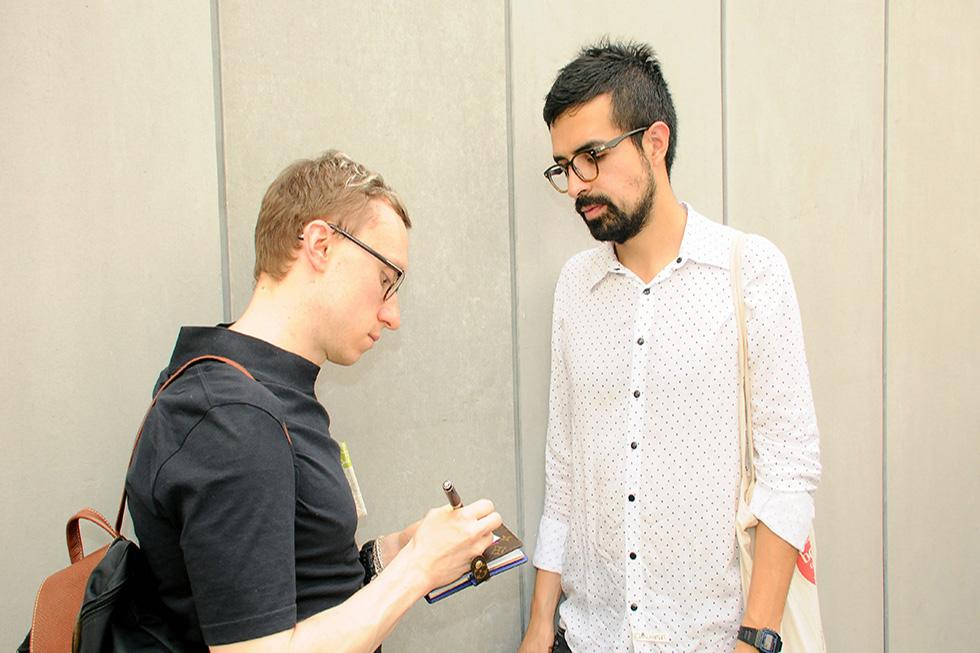 Denis Maksimov e Sérgio Pinzon (Foto: Bruna Guerra/Reprodução)