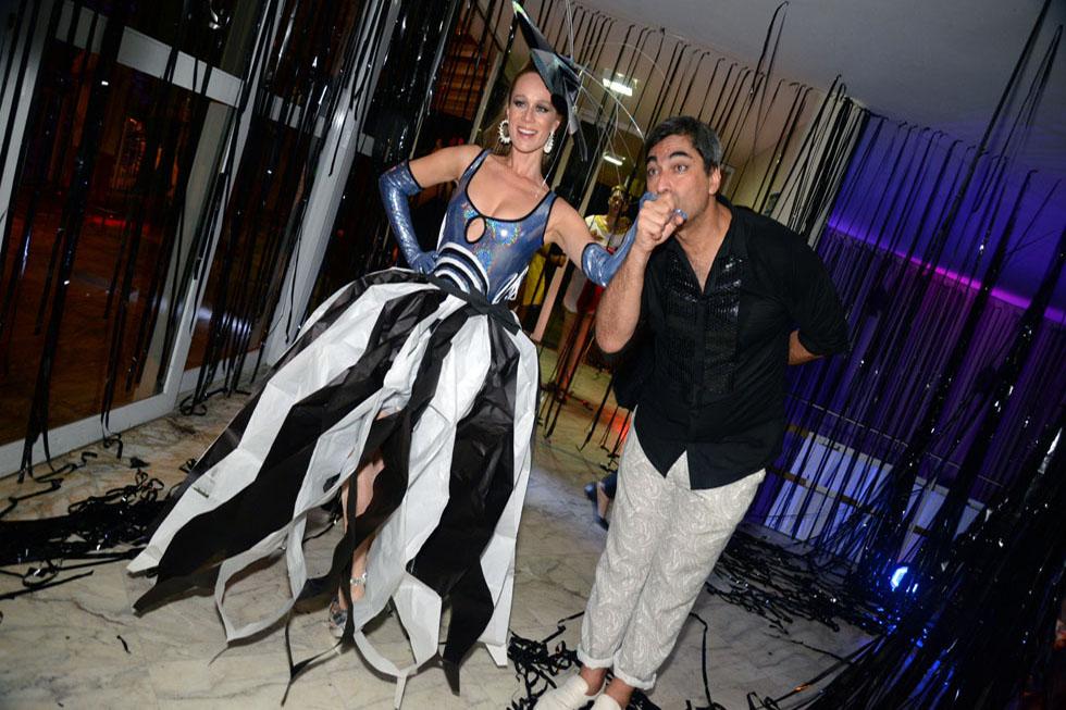 Mariana Ximenes e Zeca Camargo (Foto: Juliana Rezende/Reprodução)