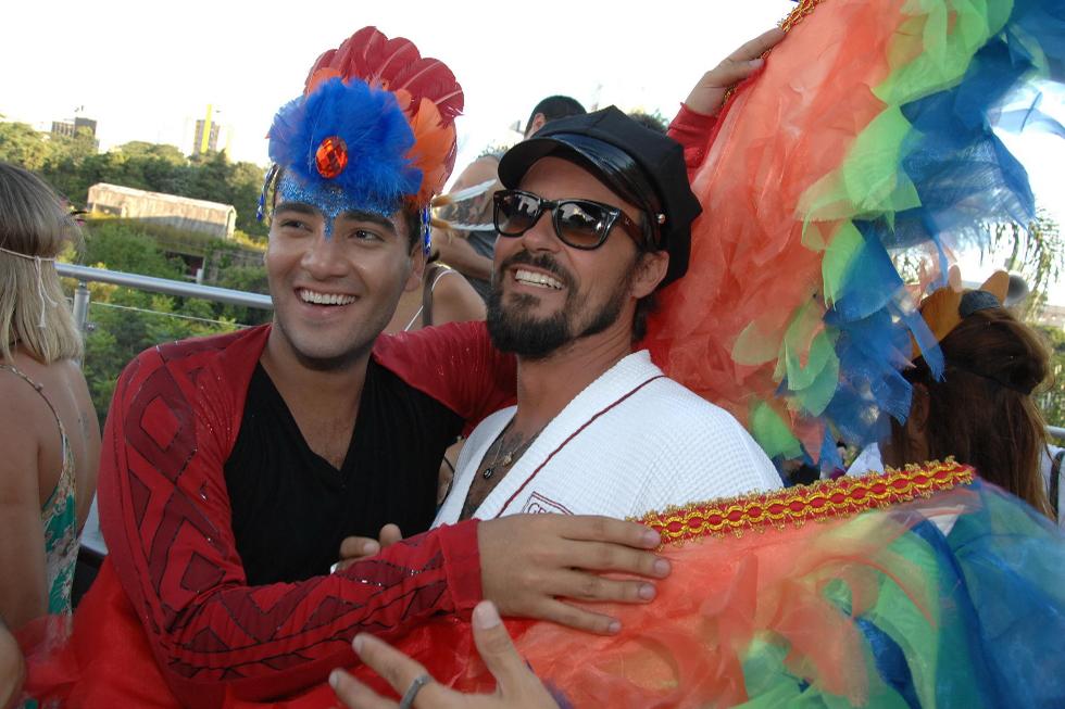 Murilo Lima e Paulinho Vilhena (Foto: Augusto Mestieri/Reprodução)
