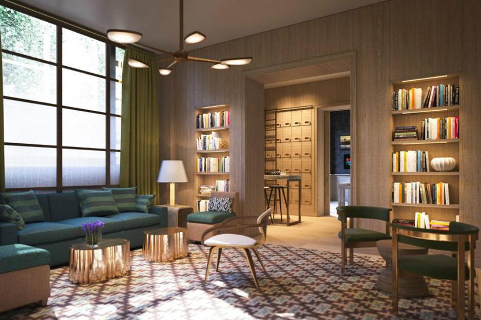 Biblioteca do condomínio (Foto: Divulgação)