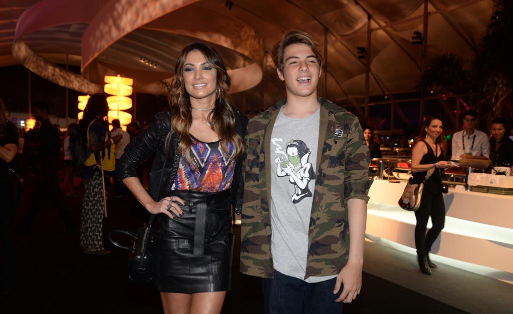 Patricia Poeta e o filho, Felipe