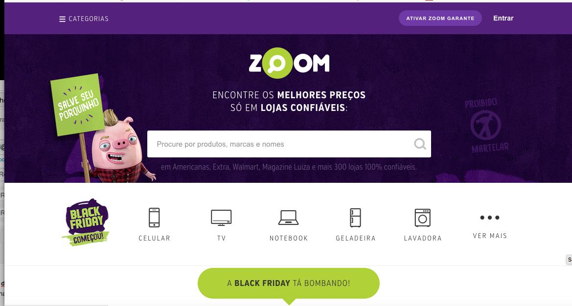 O Zoom monitora preços em diversas lojas de e-commerce. Além disso, o serviço tem a opção de escolher de dois a quatro produtos para comparar na mesma tela, alerta de preço, histórico de valores, análise do especialista e avaliação do usuário II Foto: Divulgação
