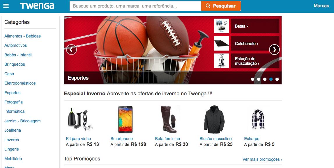 O Twenga  ajuda a buscar o menor preço. Há também a opção de receber alertas de produtos semelhantes II Foto: Divulgação