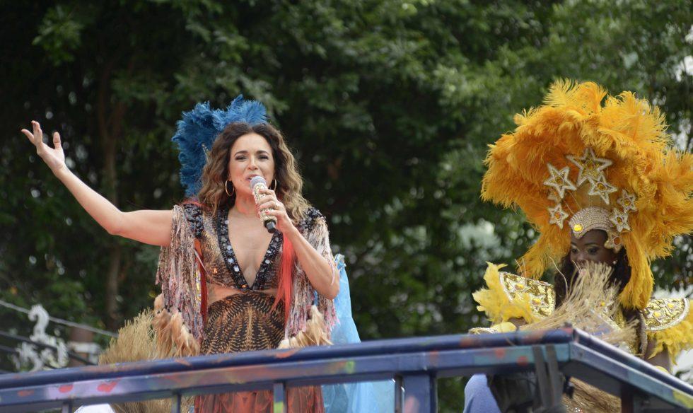 Daniela Mercury comanda a pipoca no Carnaval de Salvador.Foto SECOM