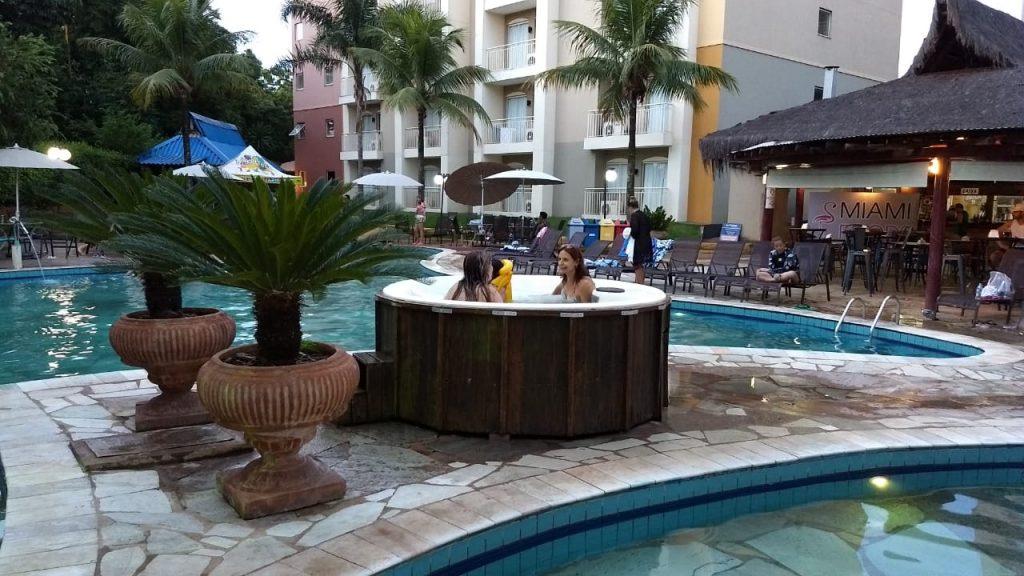As águas do Nobile Resort Thermas de Olimpia atingem a temperatura de 38 graus - Foto: Ricardo Corona - Cla Cri