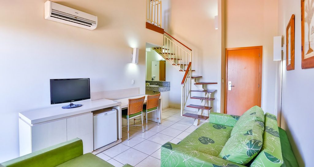 Apartamentos duplex do Nóbile Resort Thermas de Olimpia