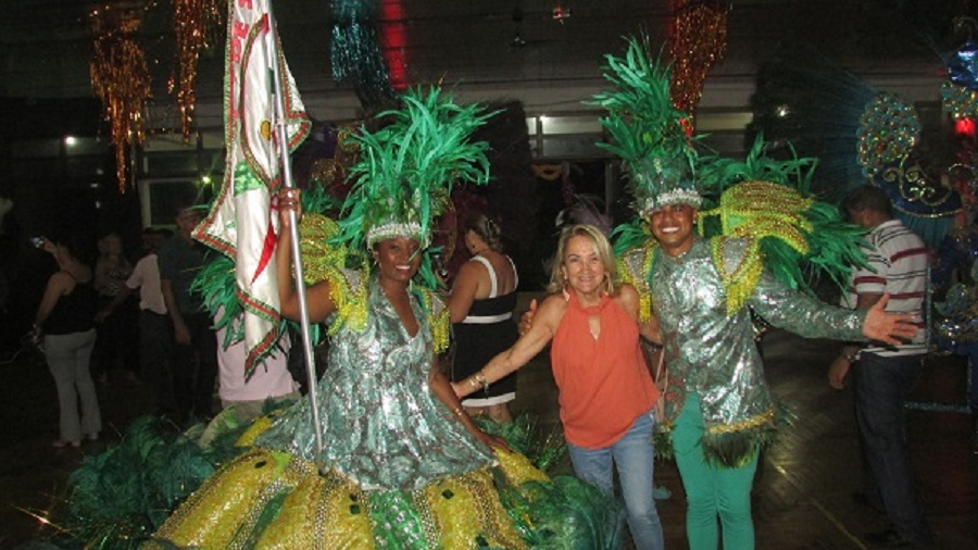 Eles deram um show: Mestre Sala e Porta Bandeira da Unidos da Vila